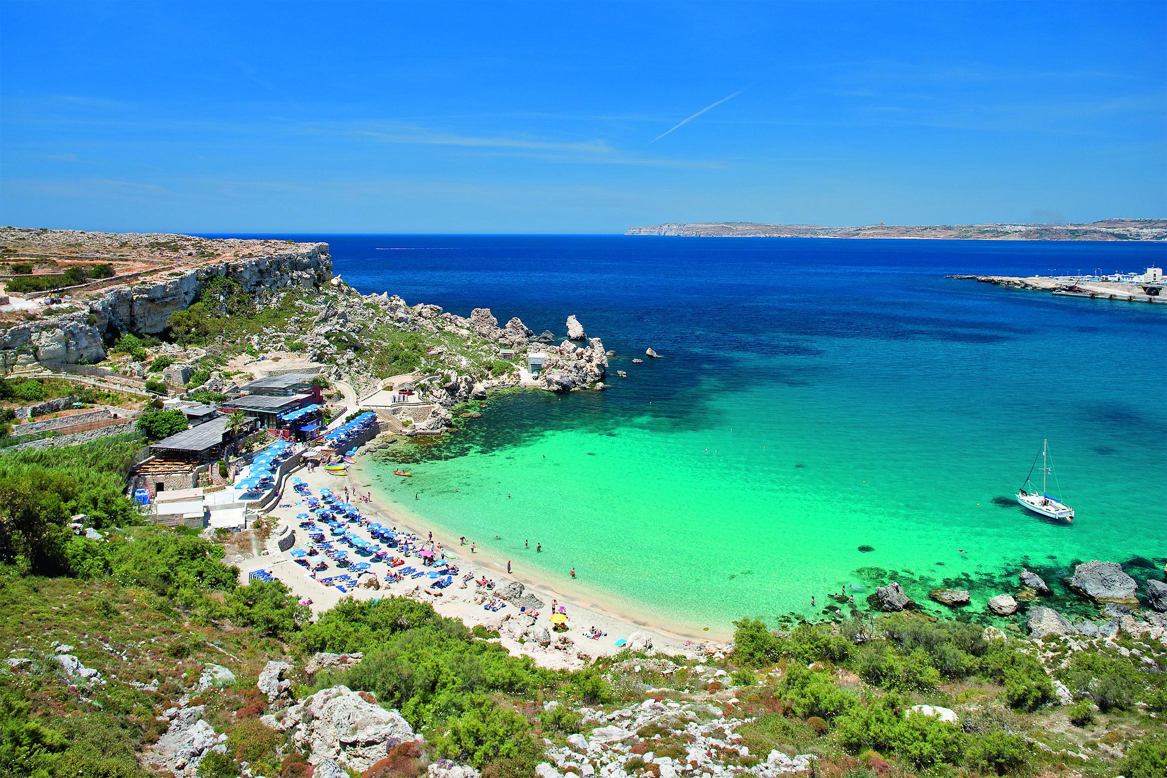 Malta, Cirkewwa, Paradise Bay beach